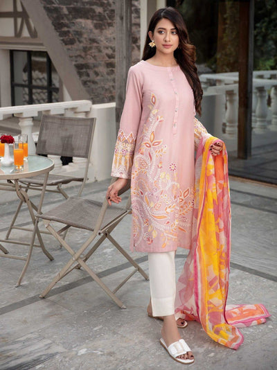 Limelight - Light Pink Embroidered Lawn Suit - 2 PC - P3643SU