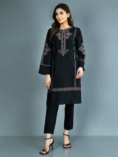 Limelight - Black Embroidered Lawn Shirt - 1 PC - P3776SH