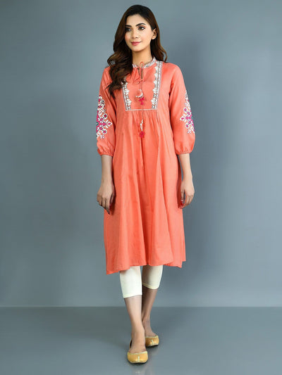 Limelight - Coral Embroidered Lawn Textured Shirt - 1 PC - P3782SH