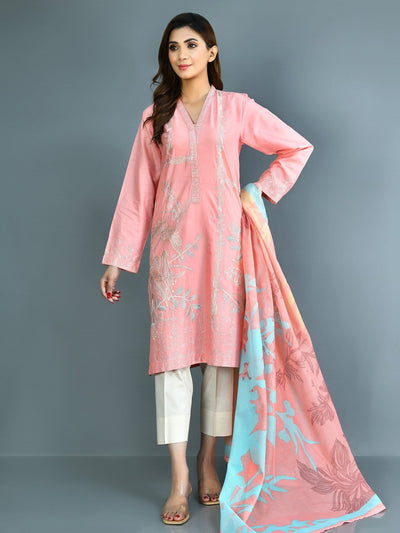Limelight - Pink Embroidered Lawn Suit - 2 PC - P4117SU