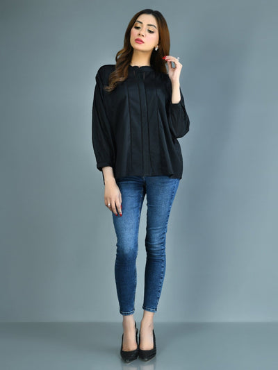 Limelight - Black Laced Lawn Top - 1 PC - P4263TP