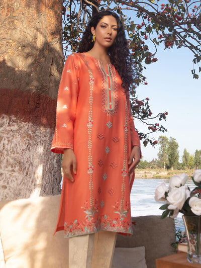 Limelight - Coral Embroidered Lawn Shirt - 1 PC - P4305SH