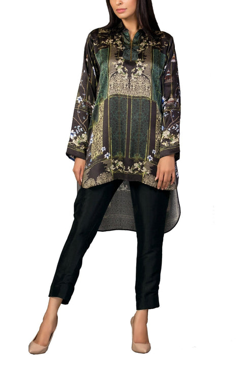 Sania Maskatiya - Radiant Digitally Printed Charmeuse Shirt