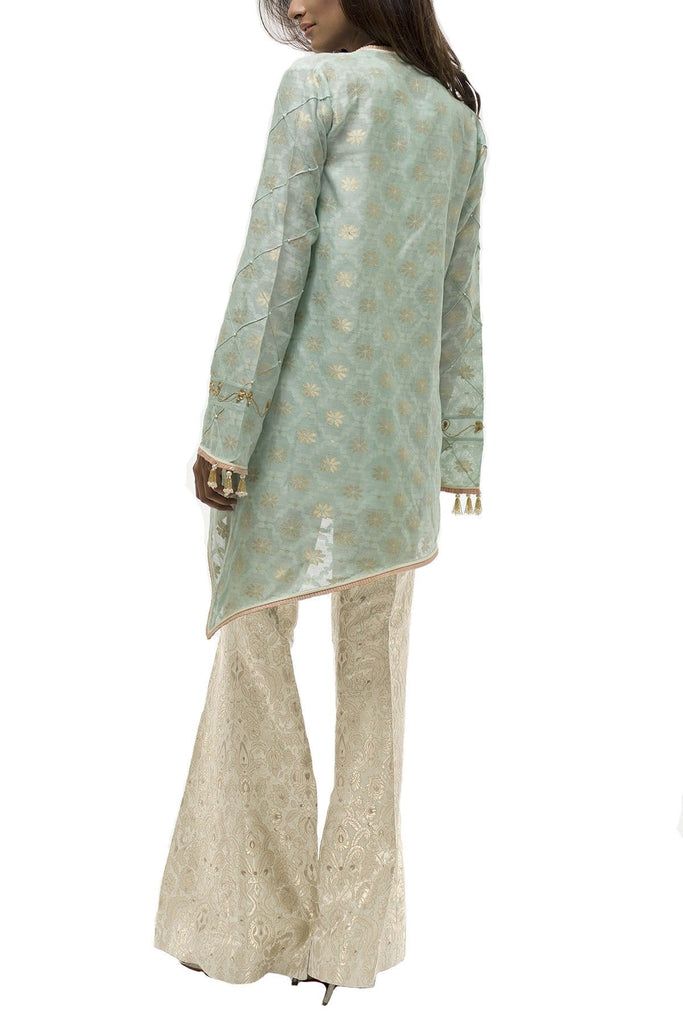 Sania Maskatiya - Cotton Net Woven Embroidered Jacket