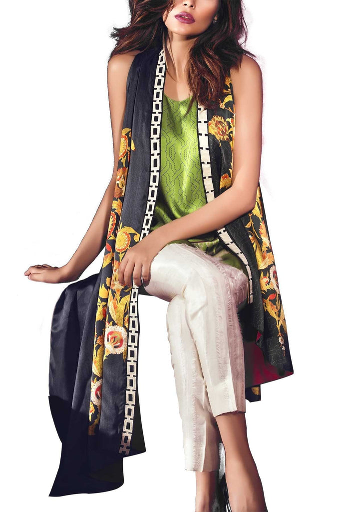 Sania Maskatiya - Digitally Printed Charmeuse Cape