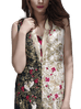 Sania Maskatiya - Jamawar Embroidered Snake Cut Coat