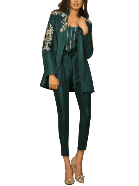 Sania Maskatiya - Jamawar Embroidered Jacket