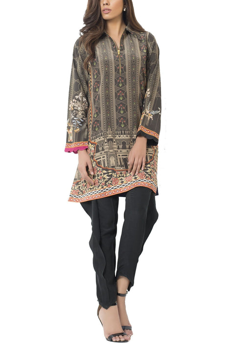 Sania Maskatiya - Digitally Printed Crepe Shirt With Collar