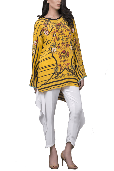 Sania Maskatiya - Digitally Printed Crepe Shirt With Raw Silk Shalwar