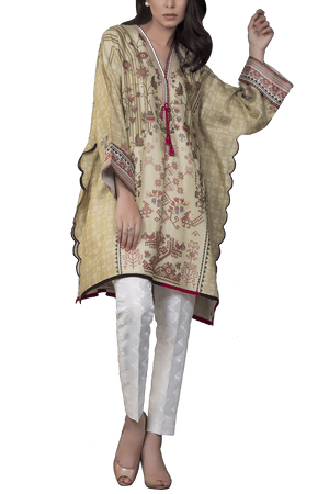 Sania Maskatiya - Cotton Net Digitally Printed Poncho