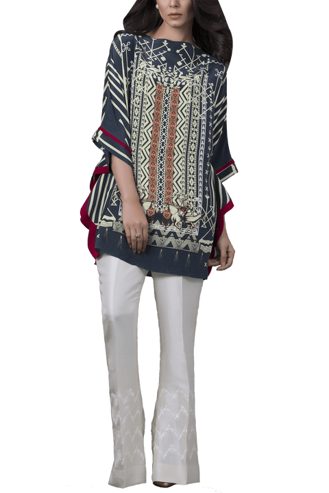 Sania Maskatiya - Digitally Printed Crepe Poncho