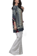 Sania Maskatiya - Digitally Printed Crepe Poncho With Raw Silk Palazzo