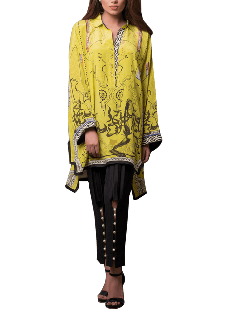 Sania Maskatiya - Digitally Printed Crepe Shirt With Pants