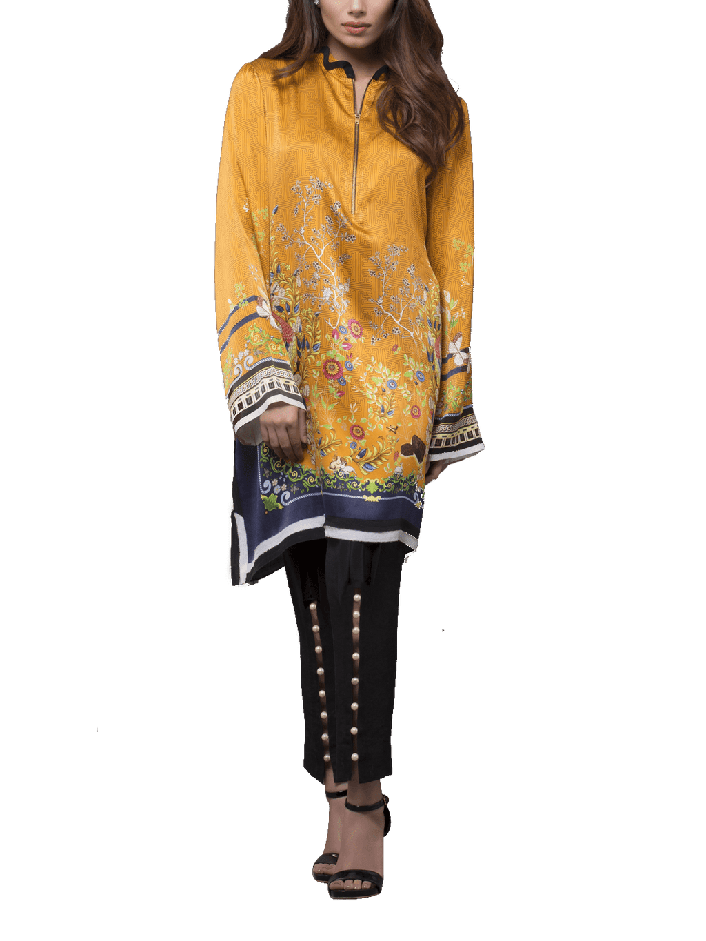 Sania Maskatiya - Digitally Printed Charmeuse Shirt With Pants