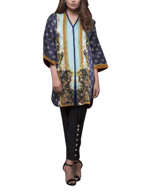 Sania Maskatiya - Digitally Printed Charmeuse Coat With Pants