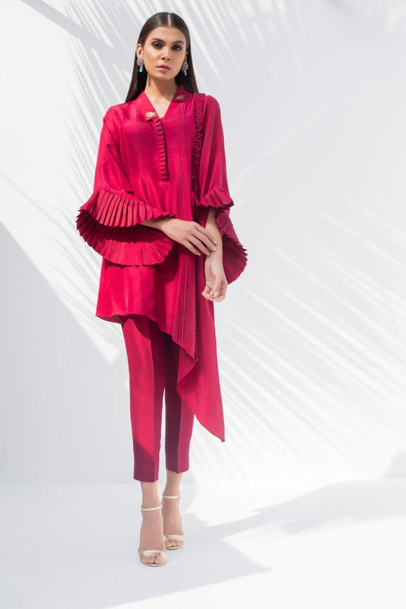 Sania Maskatiya - Raw Silk Asymmetrical Kurta