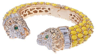 Amishi - Yellow & Gold Lion Cuff