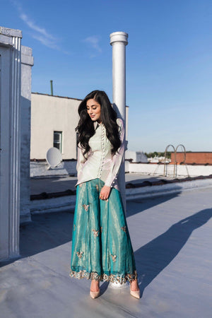 Samaira Ghani - Laser Cut Blouse With Tulip Pants