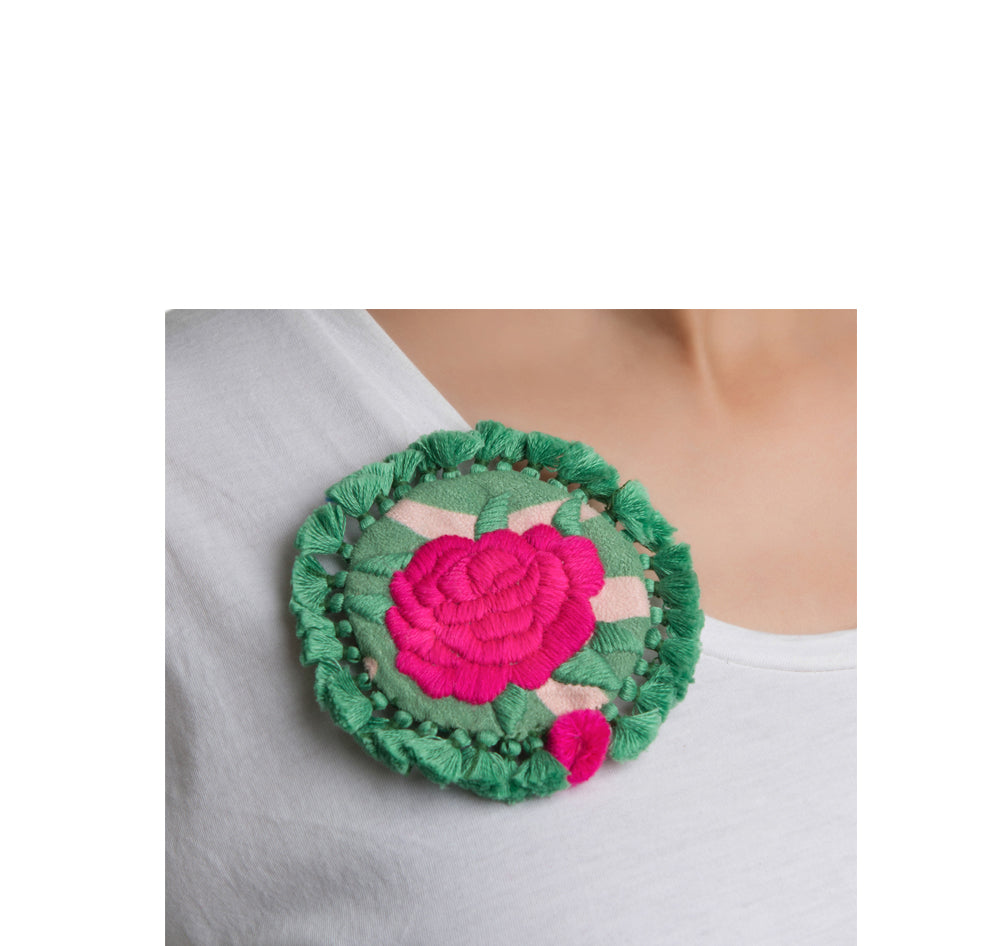 Mahin Hussain - Rose Brooch From Umerkot