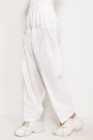Generation - White Shalwar With Pleated Paincha