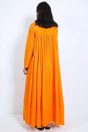 Generation - Orange Sunehri Sitara Dress - 1 PC