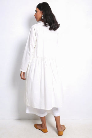Generation - White Summer Basis Frock - 1 PC