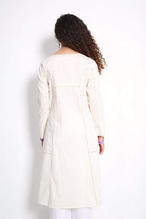 Generation - Off White Summer Basis A-Line Kurta - 1 PC