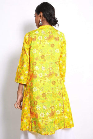 Generation - Yellow Beaded Kurta - 1 PC