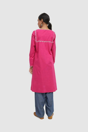 Generation - Pink Suraj Mikho Embroidered Kurta - 1 PC