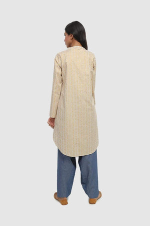 Generation - Off White Goldsmith Screen Printed Kurta - 1 PC
