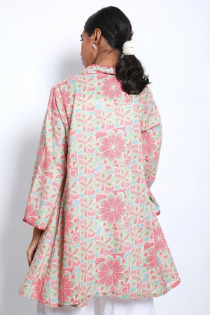 Generation - Green Summer In Bengal Flared Top - 1 PC