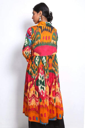 Generation - Multi Color Molten Ikat Frock - 1 PC