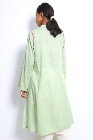 Generation - Sea Green Sarang A-Line Shirt - 1 PC