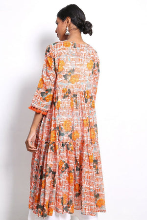 Generation - Carrot Ocean Flora Frock - 1 PC