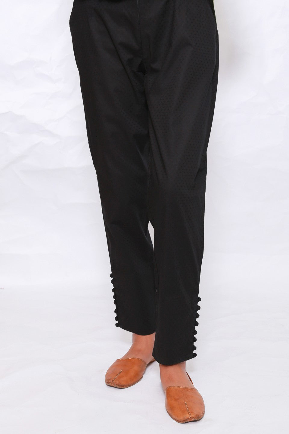 Generation - Black Textured Trousers
