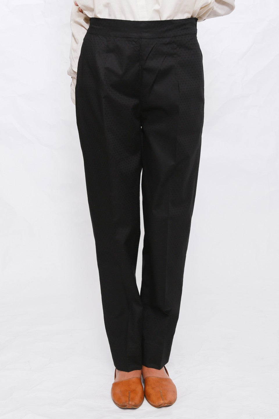 Generation - Black Textured Trouser