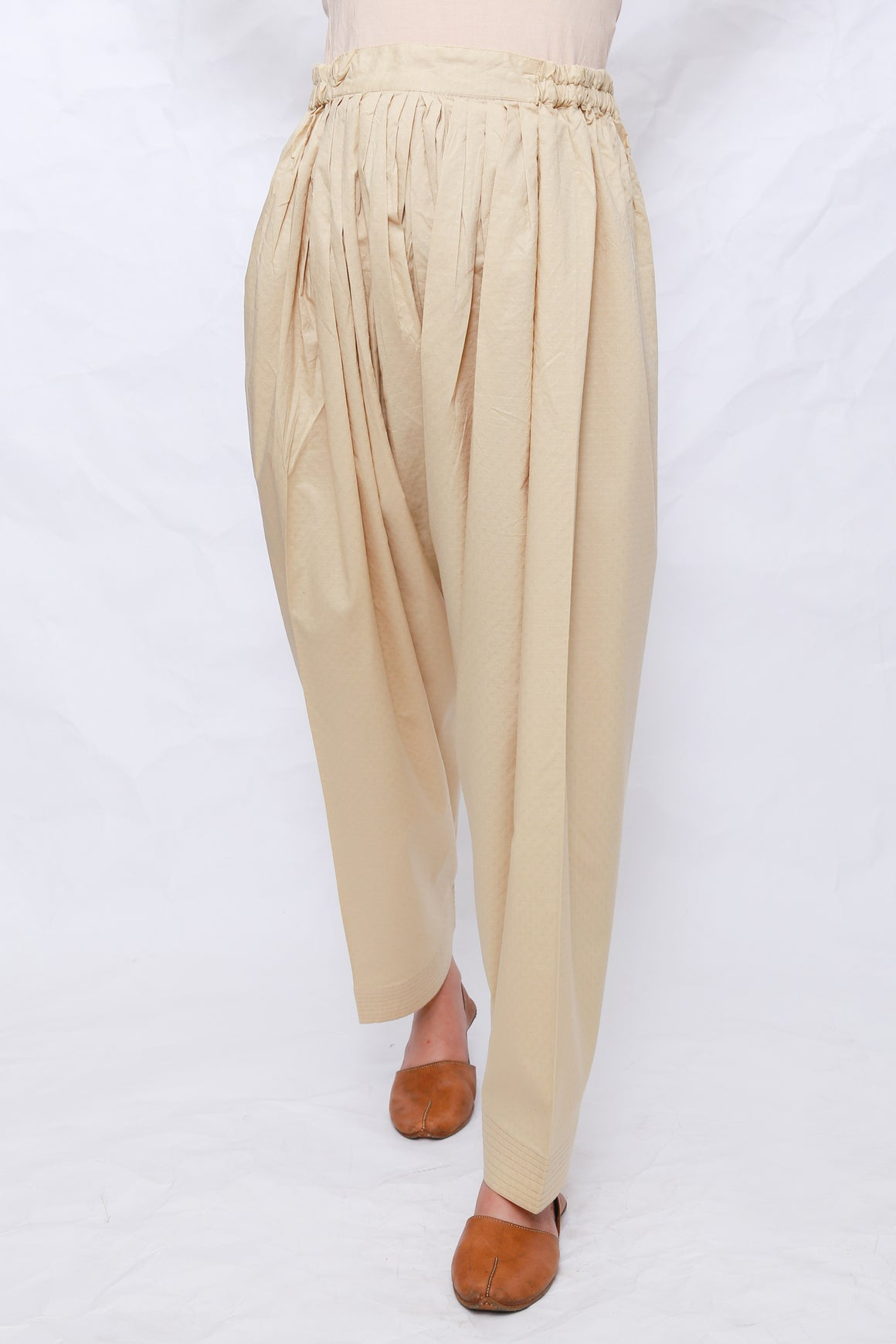 Generation - Beige  Textured Shalwar