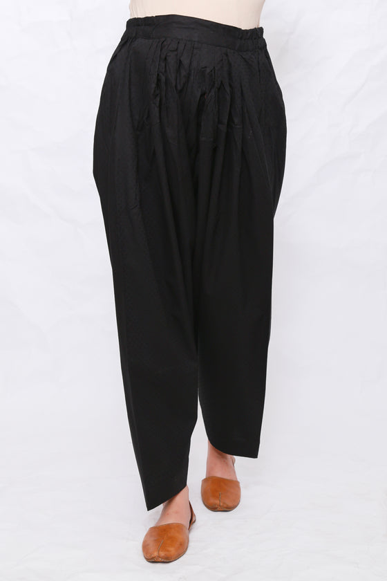 Generation - Black Textured Shalwar