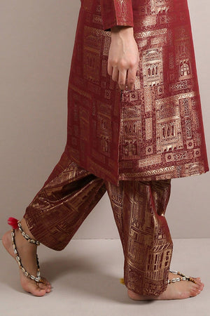 Generation - Maroon Walled City Shalwar