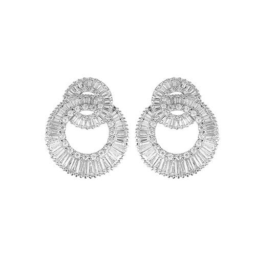 Amishi - Silver Traditional Earrings