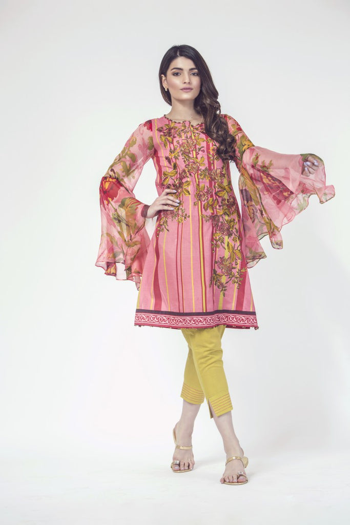Alkaram Studio - Pink 3 Piece Printed Embroidered