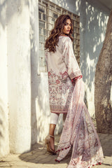 Alkaram Studio - Peach Digital Printed Shirt with Silk Dupatta
