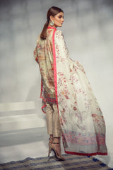 Alkaram Studio - Multi Digital Printed Shirt with Silk Dupatta