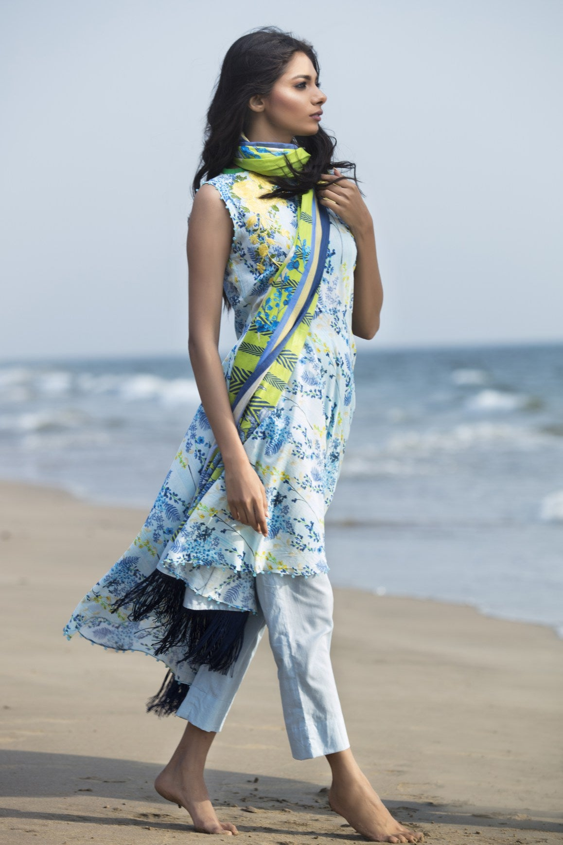 Alkaram Studio - Blue 3 Piece Printed Lawn