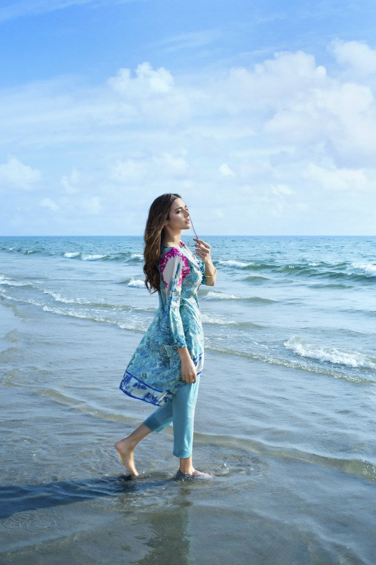 Alkaram Studio - Blue 3 Piece Printed Lawn Clearance Sale