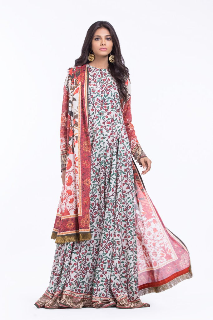 Alkaram Studio - Red 3 Piece Printed Lawn
