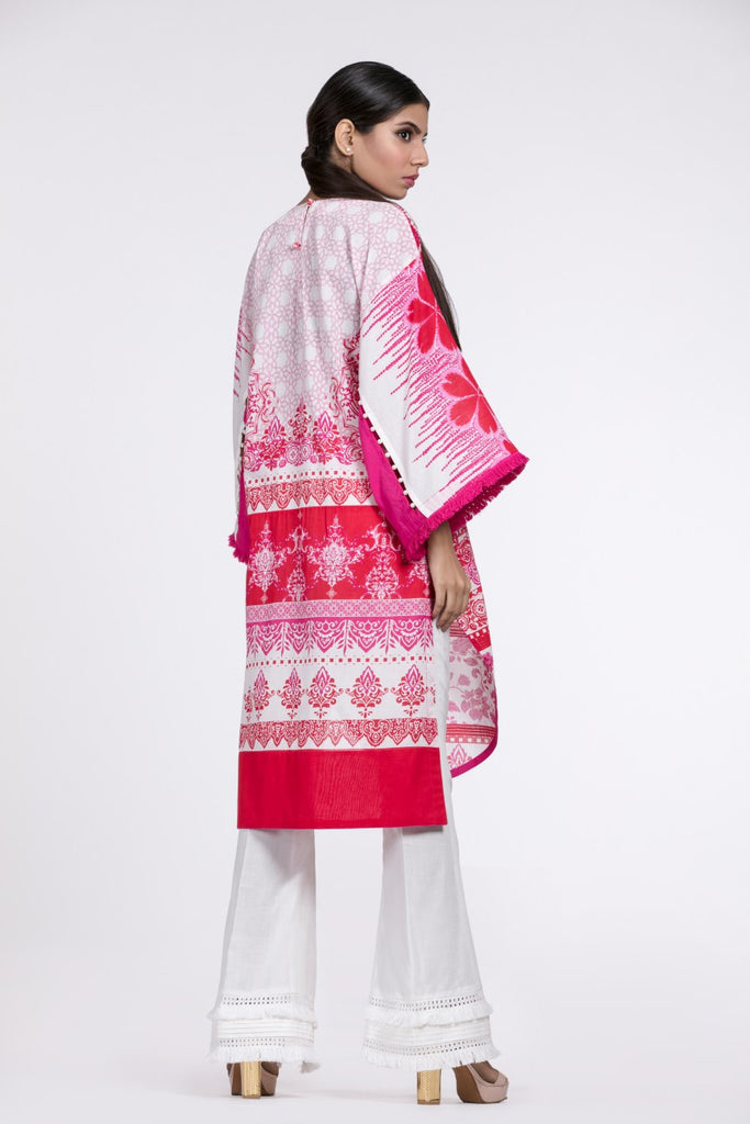 Alkaram Studio - Red 2 Piece Printed Embroidered
