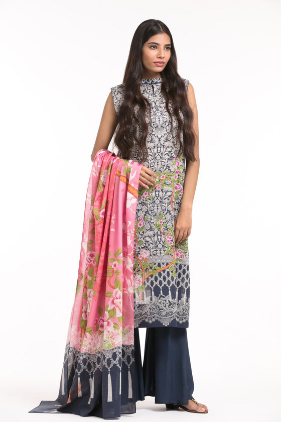 Alkaram Studio - Blue 2 Piece Printed Lawn