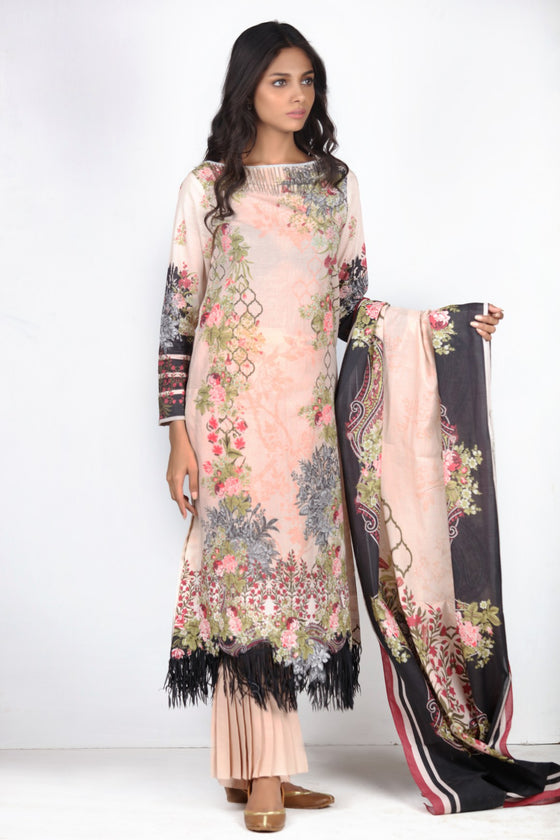 Alkaram Studio - Black 2 Piece Printed Lawn