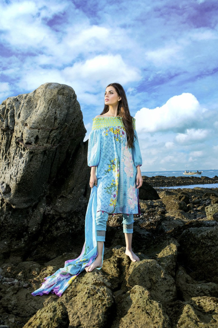 Alkaram Studio - Blue 2 Piece Embroidered Lawn